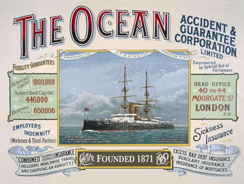The Ocean-Insurance Metal Sign