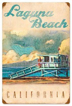 Laguna Beach Lifeguard Tower Vintage