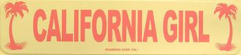 California Girl Metal Sign