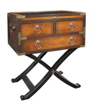 Honey Bombay Box End Table