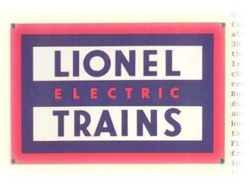 Lionel Trains Porcelain Sign (logo)
