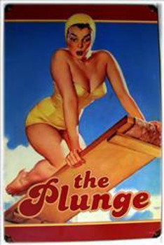 The Plunge Pin-Up Metal Sign