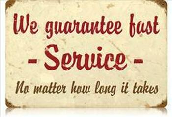 We Guarantee Fast