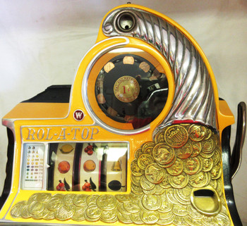 Watling 1c Coin Front  Twin Jackpot Rol-A-Top