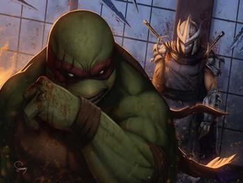 TMNT Raphael vs. the Shredder