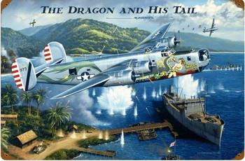 The Dragon and His Tail Jumbo Metal Sign