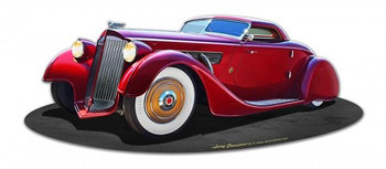 1940 Packard Kustom Plasma-Cut Metal Sign