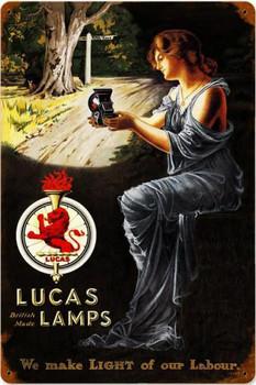 Lucas Lamps Vintage Metal Sign