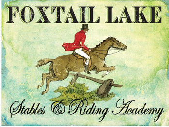 Foxtail Lake Metal Sign