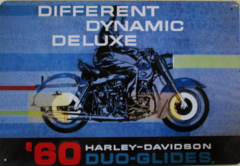 60 Harley-Davidson Duo-Glides Metal Sign
