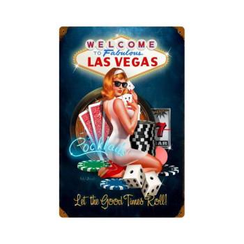 Las Vegas-Good Times Metal Sign