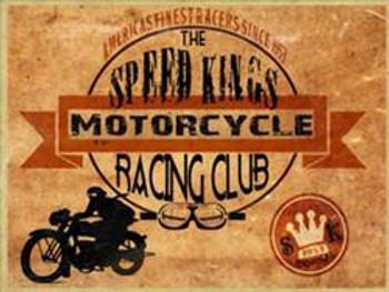 Speed Kings Racing Club Metal Sign