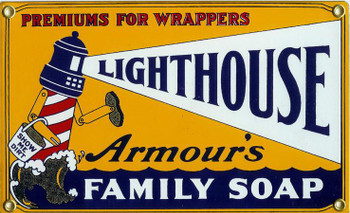 Lighthouse Family Soap Porcelain Sign