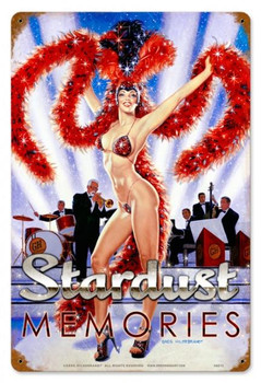 Stardust Memories Pin-Up Metal Sign