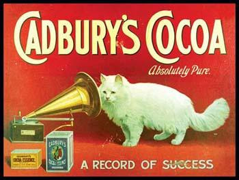 Cadbury's Cocoa Metal Sign