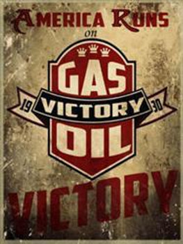 Victory Gas Oil Metal Sign