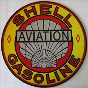 """Shell Gasoline ( 12"""" Round ) Metal Sign"""