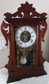 Walnut Mantel Clock with Chime