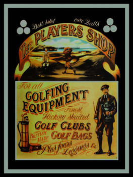 The Players Shop Golf Metal Sign