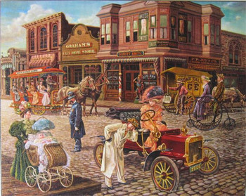 "Lee Dubin Limited Signed Canvas ""Main Street"""
