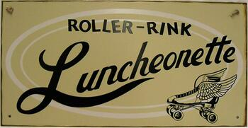 Roller-Rink Luncheonette Rustic Metal Sign