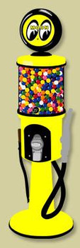 Visible Gas Pump Gumball Dispenser-Moon Eyes 1