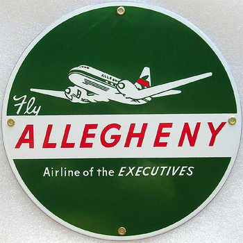 Allegheny Airline Porcelain Sign