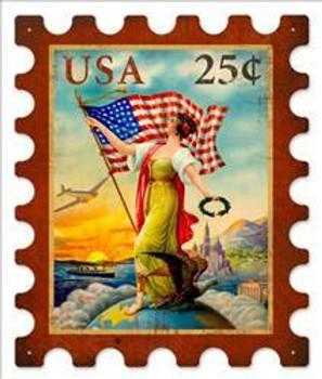 US Eagle Stamp