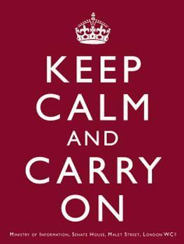 Keep Calm and Carry On (burgundy)