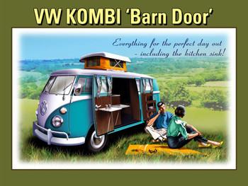 """VW Kombi """"Barn Door"""" Metal Sign"""