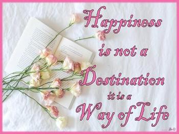 Happiness-Destination-Way of Life Metal Sign