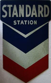 Chevron Station Metal Sign