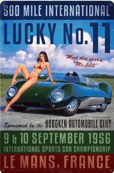 Lucky No. 11 Pin-Up Metal Sign