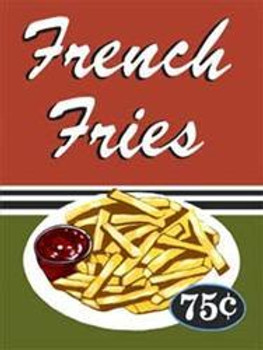 French Fries Metal Sign