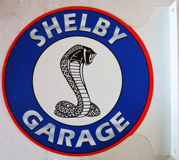 """Shelby Garage Flange Sign 12"""""""