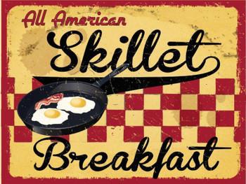 Skillet Breakfast Metal Sign
