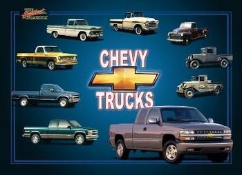 Chevy Trucks 1929-1998 (disc) Metal Sign