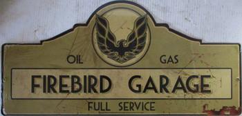 """Firebird Garage Metal Sign 27"""" by 14"""""""