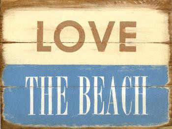 Love The Beach 2 Metal Sign