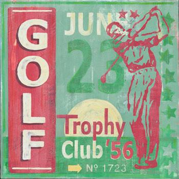 Golf Metal Sign