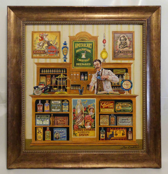 Apothecary Lee Dubin Framed Original Painting
