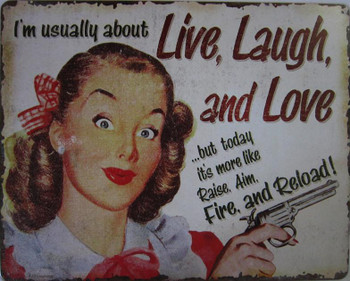 Live Laugh & Love Metal Sign