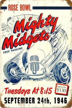 Mighty Migets Vintage Metal Sign
