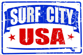 Surf City USA Aluminum Sign