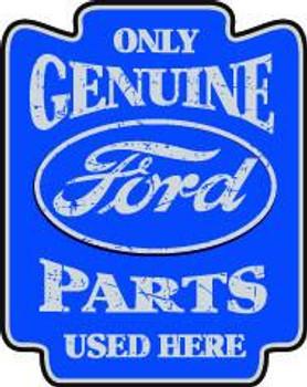 "Genuine Ford Parts 18"" Plasma Cut Metal Sign"