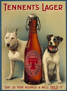 Tennent's Lager (dogs) Metal Sign