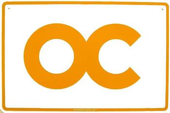 OC (Orange County) Metal Sign