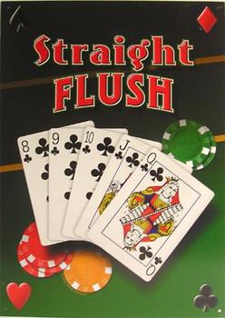 Straight Flush Metal Sign