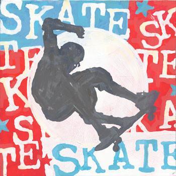 Skate Metal Sign