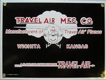 Travel Air MFG Porcelain Sign
